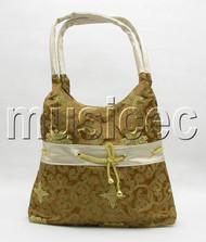 "15""X20"" popular coffee Chinese embroidery silk handbag bag purses T154A20"
