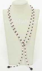"""Baroque 52"""" 8mm light pink freshwater pearls necklace j10457"""