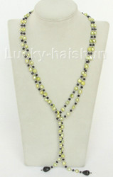 """Baroque 52"""" 8mm light green freshwater pearls necklace j10459"""