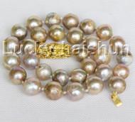 """NEW Baroque 19"""" 15mm Multicolor purple Reborn keshi pearls necklace dragon j11164"""