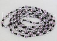 "Baroque 60"" 8mm light lavender freshwater pearls necklace j11197"
