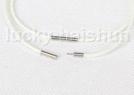 wholesale 10 piece 11mm gray pearls white leather Bracelet j11404