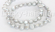 2piece stretchy 9mm Baroque gray freshwater pearls bracelet j12318