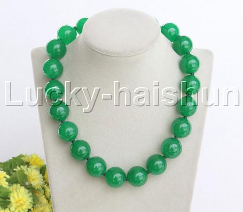 8mm 10mm green jade Gemstone Round Beads Necklace 18-100/'/'