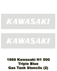 H1 500 1969 Triple Gas Tank Stencils