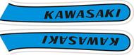 Gas Tank Decal Set - Kawasaki KH400 1974 Triple -Candy Blue