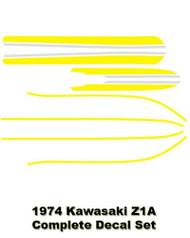 Complete Decal Set Z1 900 1974 Z1A- Yellow
