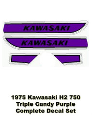 Complete Decal Set H2750 1975 Triple- Candy Purple