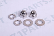 Z1 KZ Rear Shock Absorber Mount Domed Nut Set
