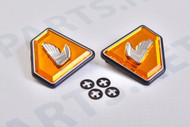 Honda CB750 1972-76 Side Cover Badges Emblems Diamond Orange
