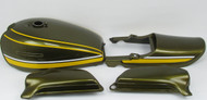 1974 Z1 900 Painted Body Set / Green & Yellow