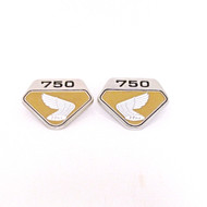 Honda CB750 K0 Side Emblems / Gold