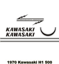 Decal Set- 1970 Kawasaki H1 500 Triple - Gray version