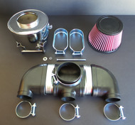 Kawasaki H1 500 Rubber Air Intake Assembly Complete Chrome