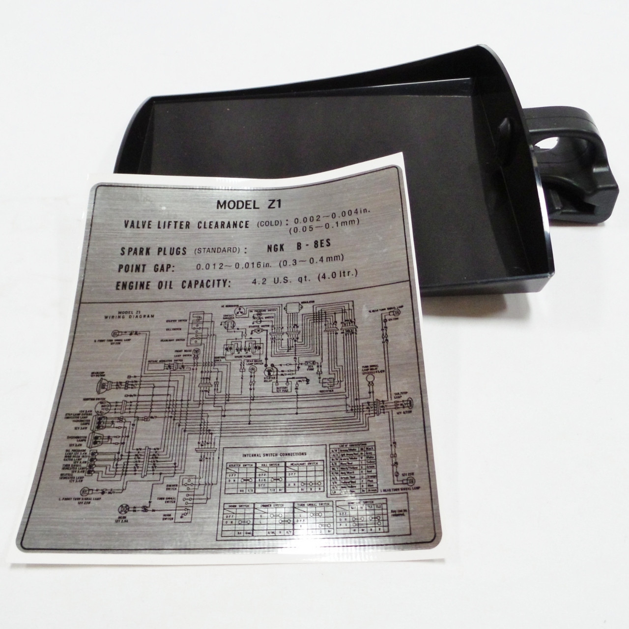 doent tool tray complete set w/ decal z1 kz - z1 parts inc on kawasaki  kawasaki atv wiring diagram