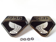 CB750 K0 Side Emblems / Black