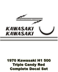 Decal Set- 1970 Kawasaki H1 500 Triple - RED version