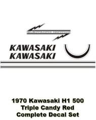 Decal Set- 1970 Kawasaki H1 500 Triple - RED version
