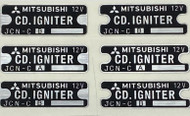 Kawasaki 1969-1971 H1- CDI box  labels H1 500