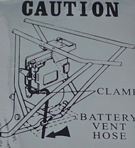 Kawasaki H1 500 Caution Battery Decal H1D/E/F