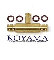 Fuel pipe passage, Brass Cross over tube fitting Tee