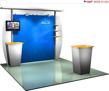Alumalite Classic 10′ Trade Show Booth - AL3 Deluxe