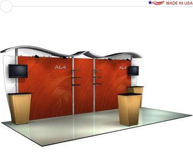 Alumalite Classic 20′ Trade Show Booth - AL4 Deluxe