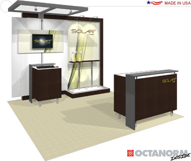 Solar Hybrid Exhibit 10′ × 10′ Inline Trade Show Booth