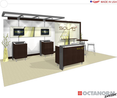 Solar Hybrid Exhibit 10′ × 20′ Inline Trade Show Booth