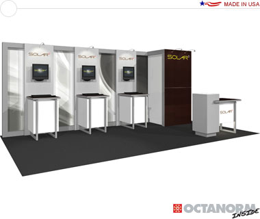 Solar E Hybrid Exhibit 10′ × 20′ Inline Trade Show Booth