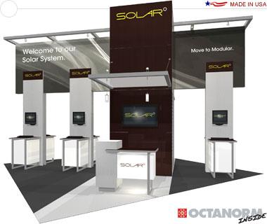 Solar E Hybrid Exhibit 20′ × 20′ Island Trade Show Exhibit