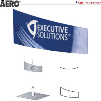 Aero™ Hanging Banner Sign • Curved Tapered Rectangle