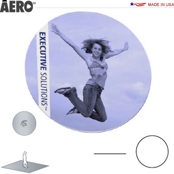 Aero™ Hanging Banner Sign • Disc