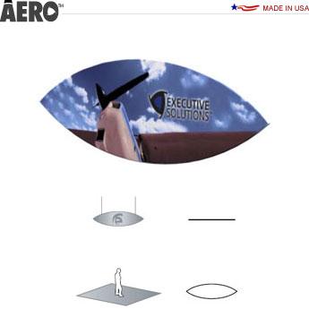 Aero™ Hanging Banner Sign • Lens