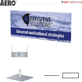 Aero™ Hanging Banner Sign • Rectangle
