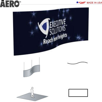 Aero™ Hanging Banner Sign • S-Curve