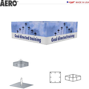 Aero™ Hanging Banner Sign • 4-Sided Rectangle