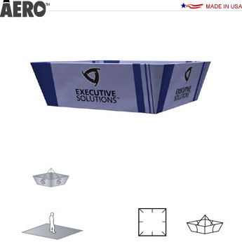 Aero™ Hanging Banner Sign • Tapered Square
