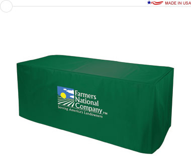 8′ Nylon Table Cover w/ Full Color Logo Print