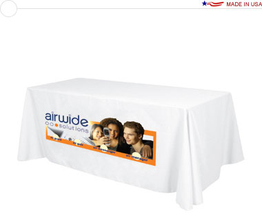 Standard 6′ Table Throw w/ Dye-Sub Print on Front