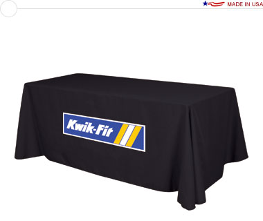Standard 8′ Table Throw w/ Full Color Logo Print