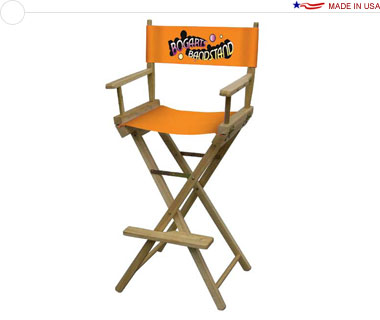 Director's Chair, Bar-Height w/ Full-Color Imprint