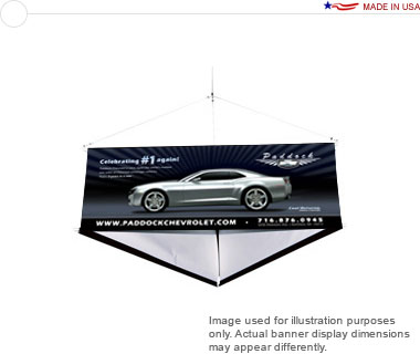 12′ 3-Sided Hanging Banner Display