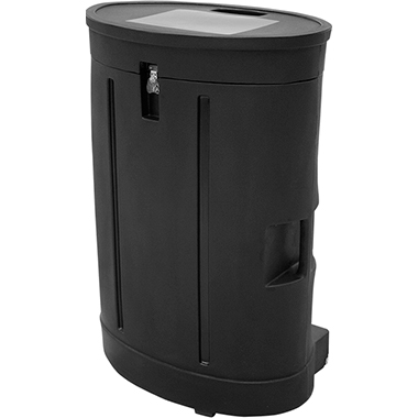 Oval Display Hard Case w/ Wheels