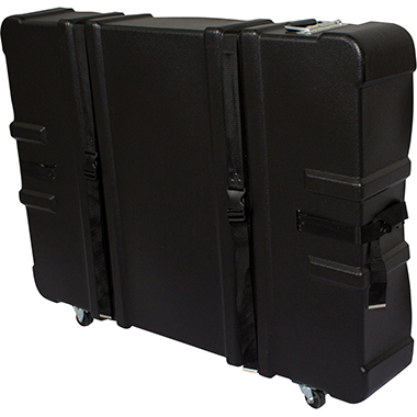 Hard Case w/ Wheels – 34.25″h × 8″d × 43.75″w