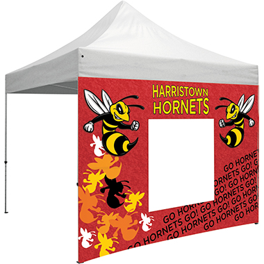 10′ Tent Window Wall w/ Full Dye-Sub Print