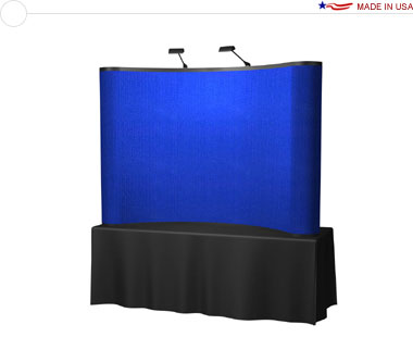 Arise™ 8′ Curved Pop Up Tabletop Display