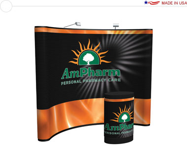 Arise™ 10′ Curved Pop Up Display w/ Full Mural