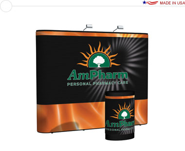 Arise™ 10′ Straight Pop Up Display w/ Full Mural
