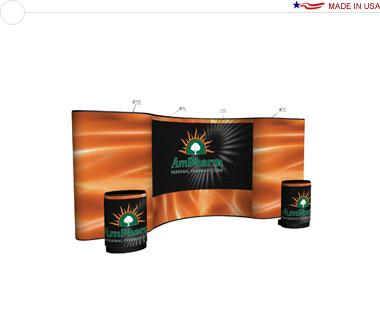 Arise™ 20′ Combination Pop Up Display w/ Full Mural